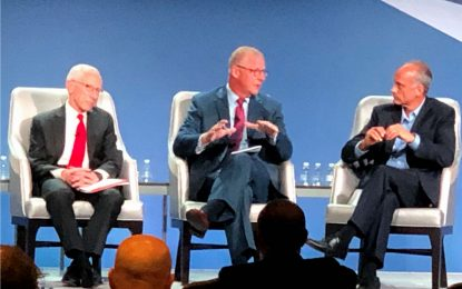 Jeff shares the stage with Stanley Fischer, Vice Chair of the Federal Reserve.